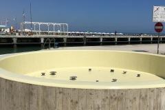 Impermeabilizzazione fontana con ciclo osmotico strutturale,igrotan fino ,finitura poliuretanica ,bordo esterno in cemento armato trattato con finitura trasparente Dry Protect/P progetto romagnaresine